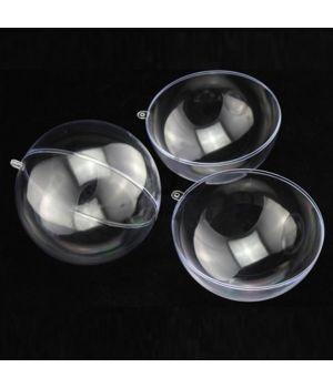 Пластиковый разъемный прозрачный шар, диаметр 10 см