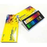 Пастель сухая мягкая MUNGYO 1/2 длины в картонной коробке 24 цвета