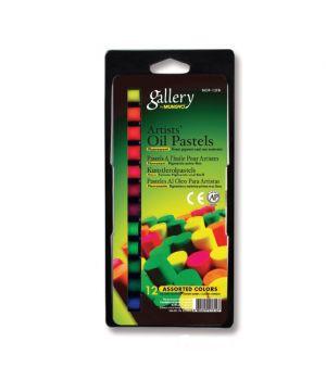 """Набор масляной пастели """"Gallery"""" серии MOP  (круглая художественная), 12 флуоресцентных цветов в блистере"""