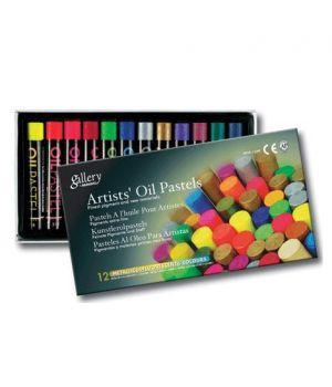 """Набор масляной пастели """"Gallery"""" серии MOP  (круглая художественная), 6 металлич. цв. + 6 флуоресцентных цв. в картонной упаковке"""