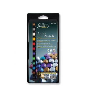 """Набор масляной пастели """"Gallery"""" серии MOP  (круглая художественная), 6x2 металлич. цветов в блистере"""