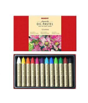 Набор масляной водорастворимой пастели MUNGYO, 12, 24 цвета