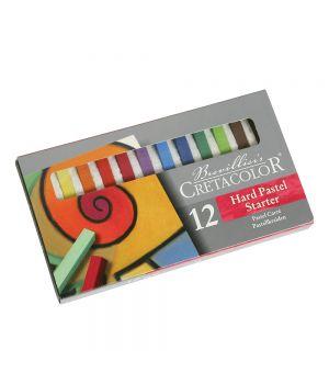 """Набор пастели для начинающих """"STARTER"""", 12 цветов в картонной коробке, размер пастели 7х7 мм, длина пастели 72 мм"""