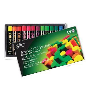 Пастель MUNGYO масляная 6 цветов х 2шт  флуоресцентных