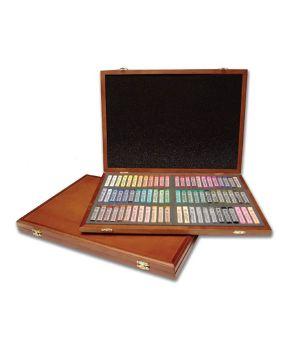 Пастель MUNGYO профессиональная мягкая квадратная 72 цвета в деревянной коробке
