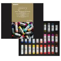 Сверхмягкая сухая пастель MUNGYO ручной работы 15, 30, 60 цветов