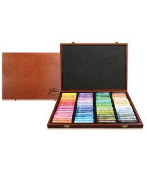 Пастель масляная профессиональная MUNGYO 72 цвета в деревянной коробке