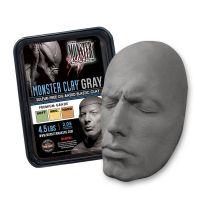 Профессиональный скульптурный пластилин Monster Clay, 2,05кг, серый, твердый