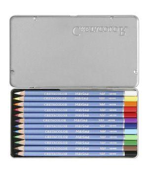 Набор профессиональных акварельных карандашей CRETACOLOR 12 цветов