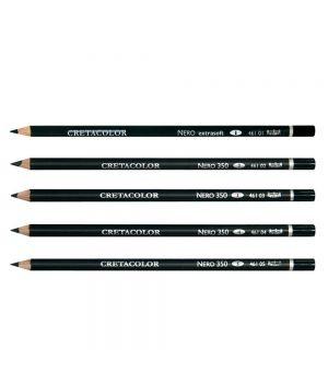 """Водостойкий угольный карандаш на масляной основе """"Nero"""", (очень мягкий, мягкий, средний, твёрды, очень твёрдый) ПОШТУЧНО, 3 шт./упак."""