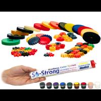 Красители для полиуретанов, пластика, пенополиуретана, эпоксидных систем SO-Strong (9шт по 10гр)
