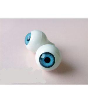 Глазки для кукол, голубые (сфера) 10 мм
