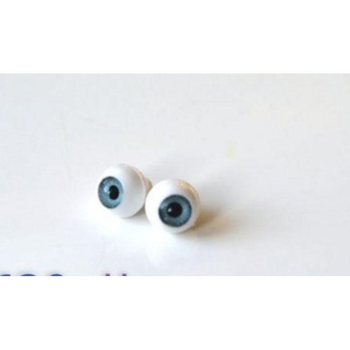 Глазки для кукол, лазурно-серые (сфера) 10 мм
