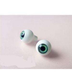 Глазки для кукол, зелёные (сфера) 10 мм