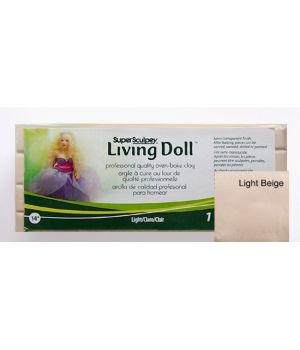 """Полимерная глина Super Sculpey Living Doll """"Light"""" (светло-бежевый)"""