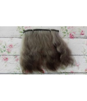Волосы для кукол натуральные цвет: каштановый