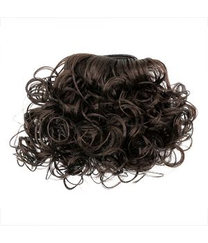 Волосы-кудри трессы для игрушек h=25-28см, L=47-50см т.каштановый